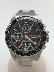 クォーツ腕時計/GJS-008M/アナログ/ステンレス/PUP/SLV