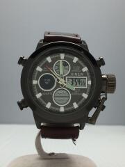 XINEW/クォーツ腕時計/デジアナ/--/GRY/BRW