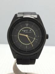 クォーツ腕時計/V145-0CJ0/アナログ/ステンレス/BLK/BLK