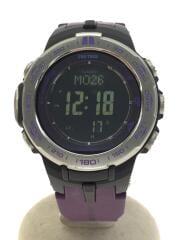 ソーラー腕時計・PROTREK/デジタル/ラバー/BLK/PUP