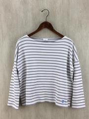 バスクシャツ/長袖Tシャツ/FREE/コットン/ホワイト/ボーダー