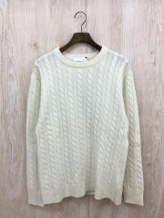 セーター(厚手)/38/ウール/ホワイト