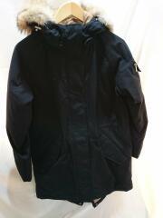 ロングダウンジャケット/XS/ポリエステル/ブラック/CHW111504219/ダウン90/ファー付きモ