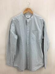 長袖シャツ/L/コットン/BEG/チェック