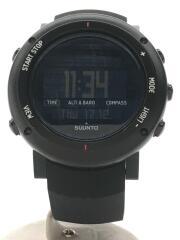 クォーツ腕時計/デジタル/ラバー/BLK/BLK