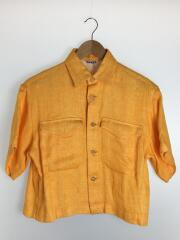 20SS/LINEN DOUBLE FACE HALF SLEEVED SHIRTS/0/リネン/ORN