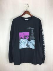 長袖Tシャツ/L/コットン/ブラック/18AW-DH-07