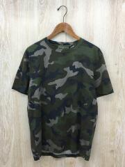 Tシャツ/L/コットン/カーキ/カモフラージュ/カモフラ