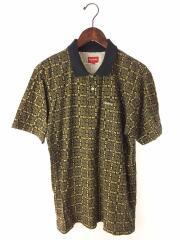 ポロシャツ/M/コットン/イエロー/黄色/総柄/Bridle Print Polo/使用感有