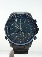 クォーツ腕時計/アナログ/ステンレス/BLU/BLK/VK68-KX20/THE BLUE/WATER BLUE