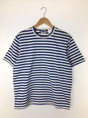 Tシャツ/M/コットン/BLU/ボーダー/WC-T014/AD2018/綿度詰め天竺ボーダー