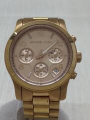 クォーツ腕時計/アナログ/ステンレス/PNK// クロノグラフ Runway ランウェイ    MK-5128