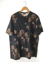 Tシャツ/46/コットン/BLK/総柄