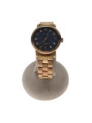 クォーツ腕時計/アナログ/ステンレス/NVY/GLD/ベイカー/MBM3332