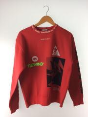 スウェット/48/ポリエステル/RED/Groove Crew Sweater/19SS/MLM-9A-AB03