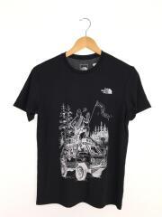 Tシャツ/S/ポリエステル/BLK