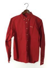 18ss/Wasted Twill Shirt/長袖シャツ/M/コットン/RED
