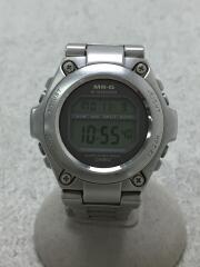 クォーツ腕時計/デジタル/ステンレス/GRY/SLV
