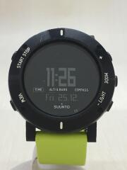 腕時計/デジタル/ラバー/BLK/GRN