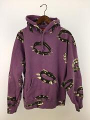 パーカー/コットン/20FW/Studded Collars Hooded Sweatshirt/使用感有