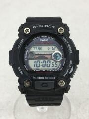 ソーラー腕時計・G-SHOCK/デジタル/ラバー/ブラック/ブラック