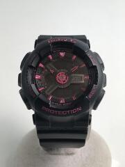 クォーツ腕時計・Baby-G/デジアナ/セラミック/BLK/BLK