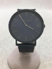 クォーツ腕時計/アナログ/ステンレス/NVY/NVY