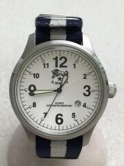 クォーツ腕時計/アナログ/--/WHT/BLU/イルビゾンテ