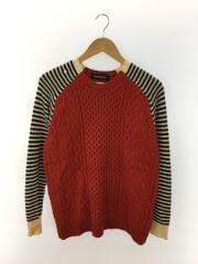 セーター(厚手)/38/ウール/RED/フェノメノン