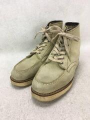 ブーツ/24.5cm/BRW/レザー/ワークブーツ/モックトゥ