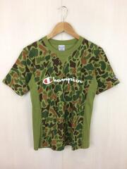 Tシャツ/M/コットン/KHK/カモフラ/チャンピオン/C3-H372