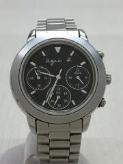 クォーツ腕時計/アナログ/ステンレス/BLK/状態B