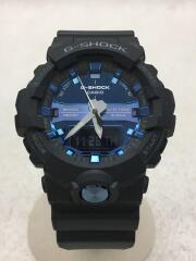 クォーツ腕時計/デジアナ/ラバー/BLU/BLK/GA-810MMB-1A2JF