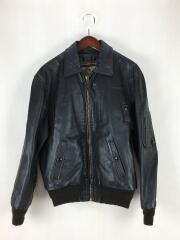 INSIGNIA LEATHER CO./レザージャケット・ブルゾン/38/馬革/BLK/無地/A-2