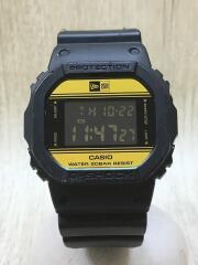 クォーツ腕時計・G-SHOCK/デジタル/ラバー/BLK/35周年NEW ERAコラボ/ベルトキス