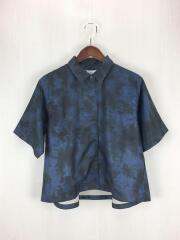 半袖シャツ/FREE/ポリエステル/NVY/総柄/HAL06086CF/タイダイPTショートスリーブシャツ