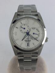 自動巻腕時計/アナログ/WHT/ホワイト/USED/セカンドストリート/箱付/デイデイト