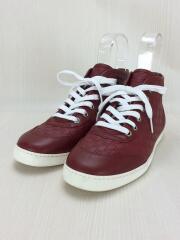 グッチシマ レザー ハイカットスニーカー/391499/36.5/RED/レザー