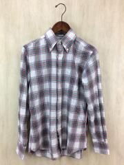 STANDARD FIT/ボタンダウン チェックシャツ/長袖シャツ/15/コットン/マルチカラー
