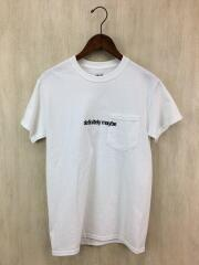 Printed S/S Pocket Tee/Tシャツ/S/コットン/WHT