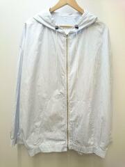 19AW/hooded shirt/シャツ/S/コットン/ブルー/ストライプ