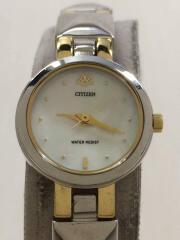 クォーツ腕時計/アナログ/ステンレス/ホワイト/白/シルバー/銀/5930-S74831