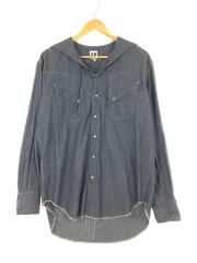SW Shirt - 4.5oz Cotton Chambray/長袖シャツ/XS/コットン/IDG