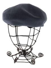 ベレー帽/--/コットン/BLU/ブルー