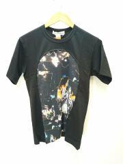 20AW/グラフィックプリントTシャツ/W28100/S/コットン/BLK/総柄