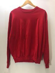 ドロップショルダー ワイドフィット LS TEE/長袖Tシャツ/2/コットン/RED