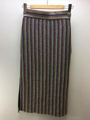 マルチカラー ラメストライプスカート/TN19AW020/FREE/ポリエステル