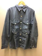 シャンブレー フィッシングシャツ/11-18-3249-139/長袖シャツ/L/コットン/BLU