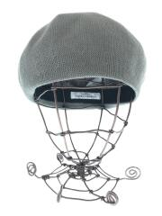 19SS/KN-191005/ベレー帽/--/コットン/GRY/無地/毛羽立ち有
