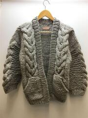 18AW/Cable HandKnit Cardigan/11820518/カーディガン(厚手)